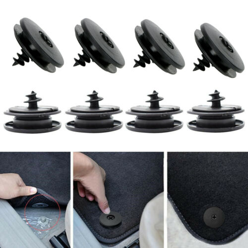 10x Car Mat Carpet Clips Fixing Grips Clamps Floor Holder Sleeves Accessories