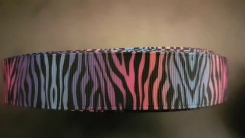 Webband Borte 3242 Bunter Zebrastyle 22mm Breite Ripsband