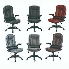 Neo Executive Computer Desk Office Swivel Reclining Chair Faux Leather or Fabric