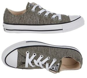Converse-All-Star-Chuck-Taylor-Shoes-Grey-Heathered-Knit-Low-Top-Sneakers-NEW