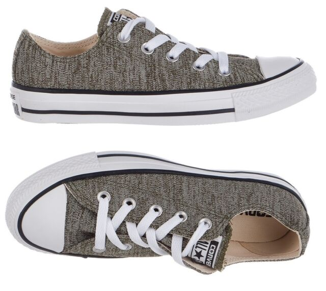Converse All Star Chuck Taylor Shoes Grey Heathered Knit Low Top Sneakers  NEW aab4894d3fc15