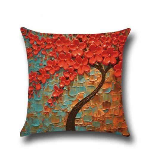 Cotton Linen Bolster Throw Pillow Case Sofa Cushion Cover Gift Home Decor 50