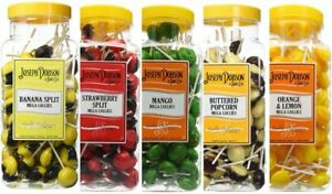 Joseph-Dobson-90-Mega-lollipops-lollies-Hard-Candy-Sweets-Various-Flavors-Jar