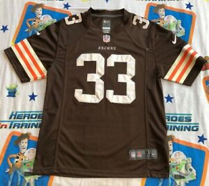 size 40 bcb05 30ed2 Details about Trent Richardson #33 Cleveland Browns Jersey Brown M Nike  Stitched Men's NFL