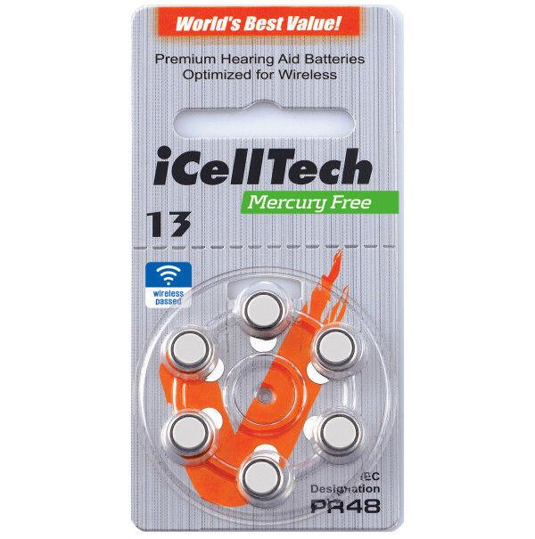 ICellTech Hörgerätebatterien Hörgeräte Batterien Typ 10 13 312 675 675 675 | Bekannt für seine schöne Qualität  cc6579