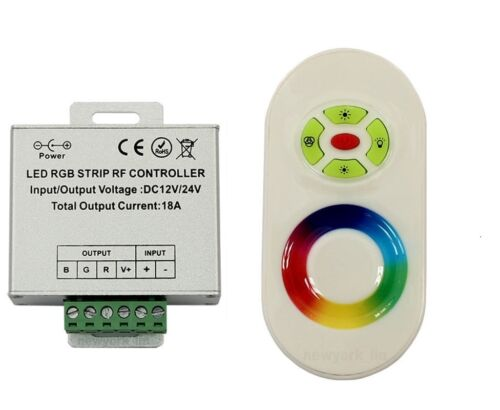 Red Blue Green LED RF Remote Controller Control Works w// Our LED Rings
