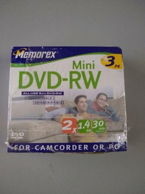 Memorex 32025625 Mini DVD-RW 2 x 1.4GB For Camcorder or PC