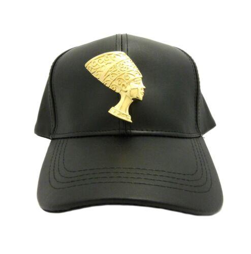 NEFERTITI NEW EGYPTIAN HORUS BIRD MAAT /& ANKH CROSS PIECE FAUX LEATHER CAP HAT