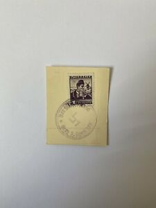 Marke 1 Groschen Burgenland Stempel Der Führer 1938