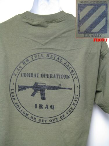 3RD ID T-SHIRT// IRAQ COMBAT OPS// MILITARY T-SHIRT// ARMY//  NEW