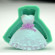 Wedding Dress Silicone Mold Chocolate Candy Making Crafts Ice Cube Fondant Party