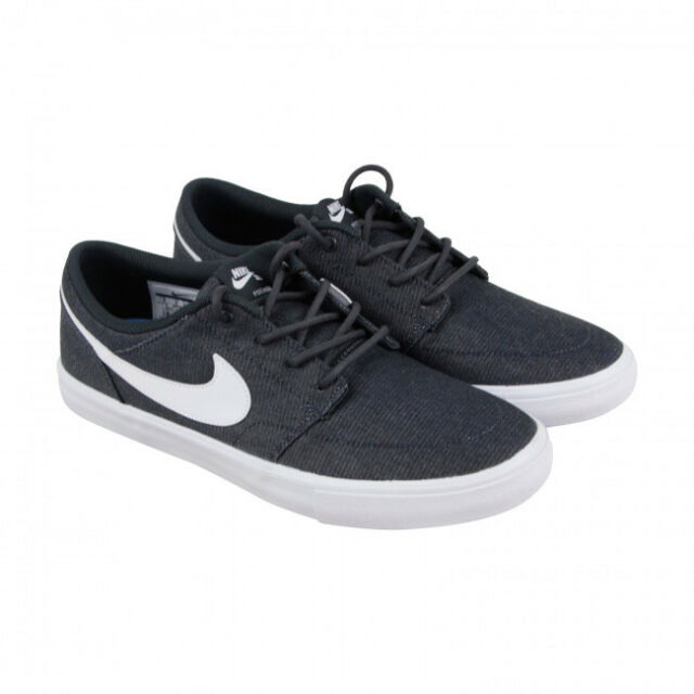 7de10f06a8e Nike SB Mens Solarsoft Portmore II Canvas Anthracite Shoes for sale ...