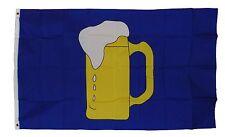 BEER HERE FLAG 3X5 3X5 FEET POLYESTER VERY NICE NEW BEER MUG