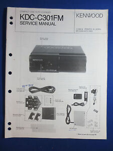kenwood kdc c301fm cd changer car audio service manual original rh ebay com alpine car audio service manuals jvc car audio service manual