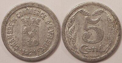 5 centimes chambre de commerce d 39 evreux 1921 ebay - Chambre de commerce charleville ...