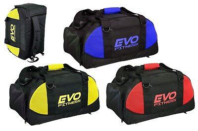 Evo Palestra Sport Kit Borsa Zaino Borsone Calcio Fitness Training Mma Boxing Bags-
