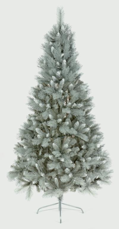 Premier Argent Pointe Sapin Gris PVC basculante Argent basculante PVC 2.1 M arbre de Noël. 1a8366