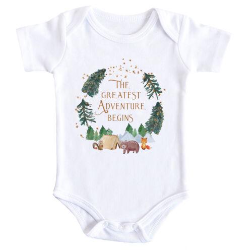 Cute Adventure Begins Baby Bodysuit Baby Reveal Grow Vest Gift Newborn Infant