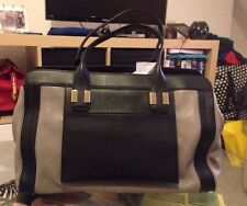 Chloe Alice large colourblock tote grey/black £1195 NEW with cards/dustbag SALE*