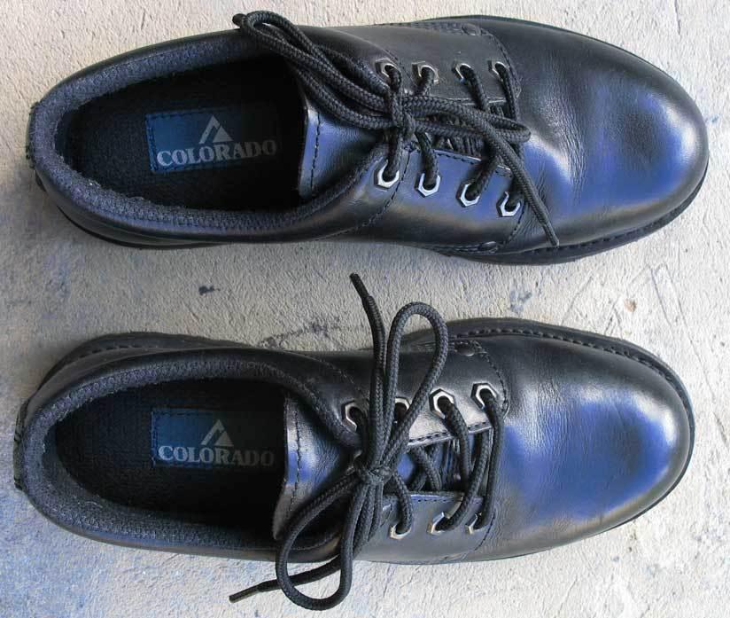 Coloreado Lace-up scarpe - nero Leather, Uomo Dimensione 6 6 6 Ladies Dimensione 8 - hardly worn 478f8d
