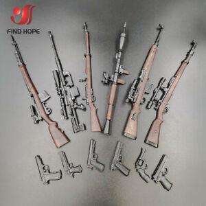 6pcs-1-6-4D-98K-RPG-SVT-40-M200-G43-Rifle-Assembly-Gun-Model-Toy-Fit-12-034-Figure