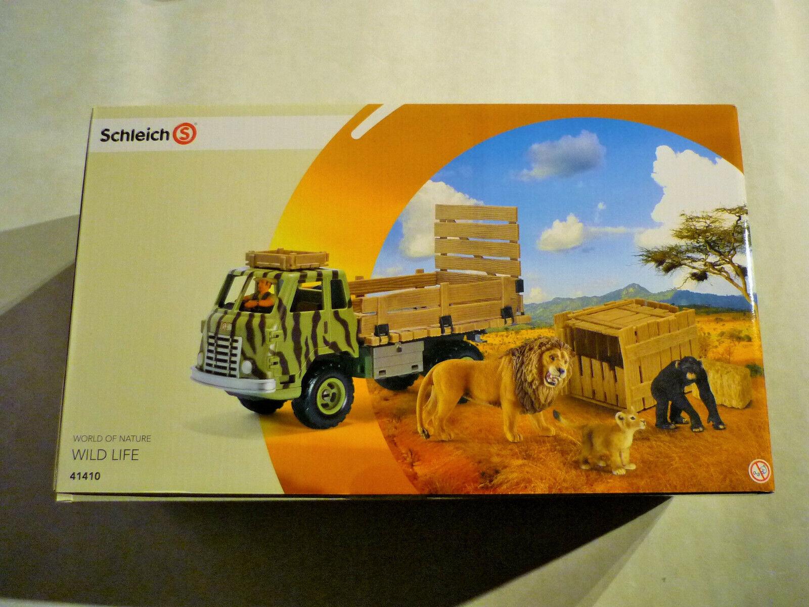 SCHLEICH 41410Safari Truck Camion TRANSPORTER Wild Life Nuovo OVP