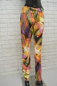 GAI-MATTIOLO-Pantalone-Floreale-Donna-Taglia-46-Jeans-Pants-Woman-Slim