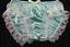 Custom Made Nickers S-XL Mint Nel-Jen High Leg Lace Sissy Ruffle Panties