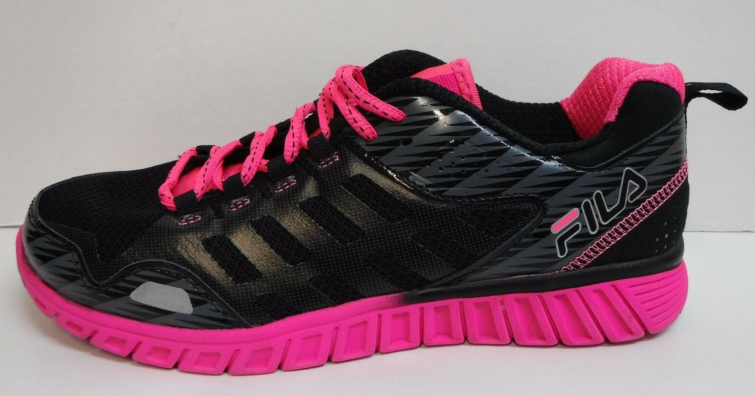 Fila Size 6 Pink Black Sneakers New Womens Shoes