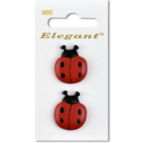 Sirdar elegante Ladybird botón plástico 28mm caña Paquete de 2