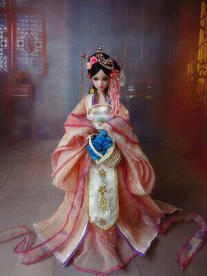 1//6 Scale Chinese Ancient Costumes Barbie Kurhn Doll Traditional Outfit full Set
