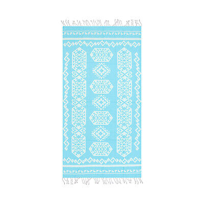 39 x 70 Soft Turkish Bath Towel Aztec Kilim Design Large Beach Towel Gray