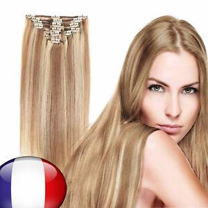 7-Bandes-Extensions-a-Clips-Cheveux-Naturels-Court-Raide-FR-LA-POSTE
