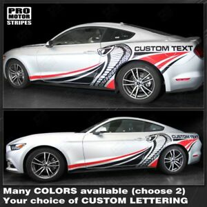 2015 Mustang Colors >> Ford Mustang 2015 2019 Cobra Style Multi Color Side Stripes