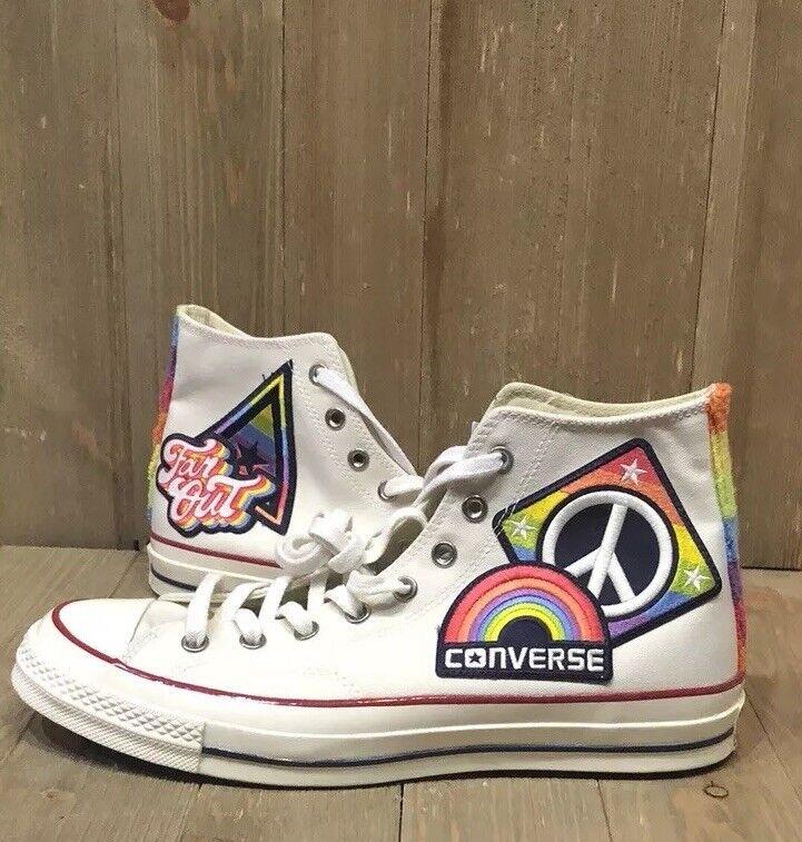 Converse Chuck Taylor All Star Hi zapatillas Talla 9.5 desfile del Pride Rainbow 158420C