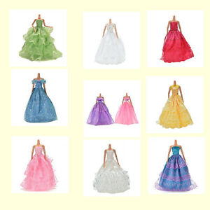 Fashion-Party-Dresses-Clothes-Shoes-Gown-For-Dolls-Girls-Random-Pick-LJAU