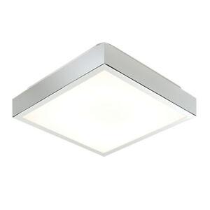 Saxby cubita chrome square fluorescent flush bathroom ceiling light image is loading saxby cubita chrome square fluorescent flush bathroom ceiling aloadofball Images