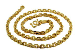 Awesome Anchor Link 26 5 Heavy Men Chain Baht Necklace 24k Gold