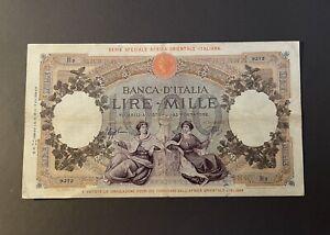 1000-Lire-AOI-AFRICA-ORIENTALE-CAPRANESI-1938-BB-Italy-Banknote-Very-Rare-VF