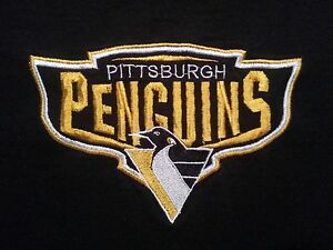 Pittsburgh-Penguins-Embroidered-T-shirt-L-like-XL-Stanley-Cup-2016-NHL-Champs