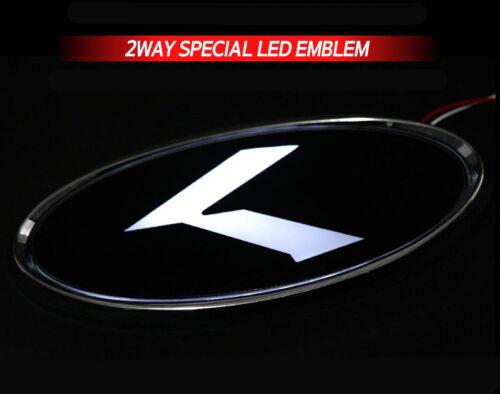 Hyundai Veloster White Red 2Way LED Rear Trunk K Logo Emblem Badge 1EA For 2011