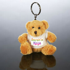 Personalised TEDDY BEAR  KEY RING - ANY image/text  !