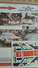 Decals 1/43 réf 695 Nissan 240 RS Salonen Monte Carlo 1984