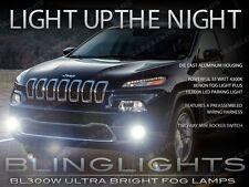2014-2016 Jeep Cherokee Xenon Halogen Fog Lamps Driving Lights Kit Set + Harness
