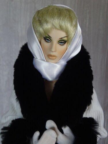 "Allfordoll Black FUR COAT for 16/"" Dolls Tonner Tyler Ellowyne Ficon Gene SALE"