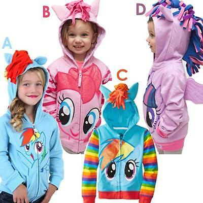 MY LITTLE PONY PINK HOODIE HOODED JUMPER TOP 18-24 MONTHS,2-3,3-4,4-5, 5-6 YEARS
