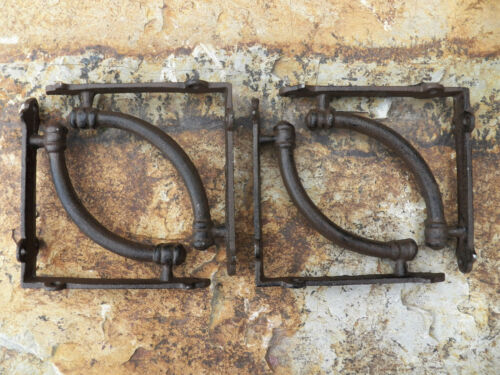 "Set of 4 Cast Iron Shelf Brackets New Hanger Rustic 5.5/"" x 5.5/"" Tubular"