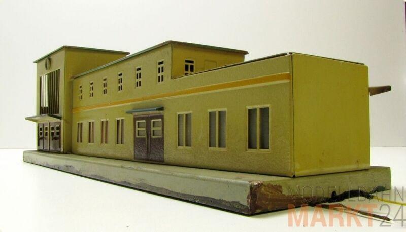 MÄRKLIN 419 Großstadt-Bahnhof Blech beleuchtet 50er Jahre Spur 00 1 76 H0 1 87