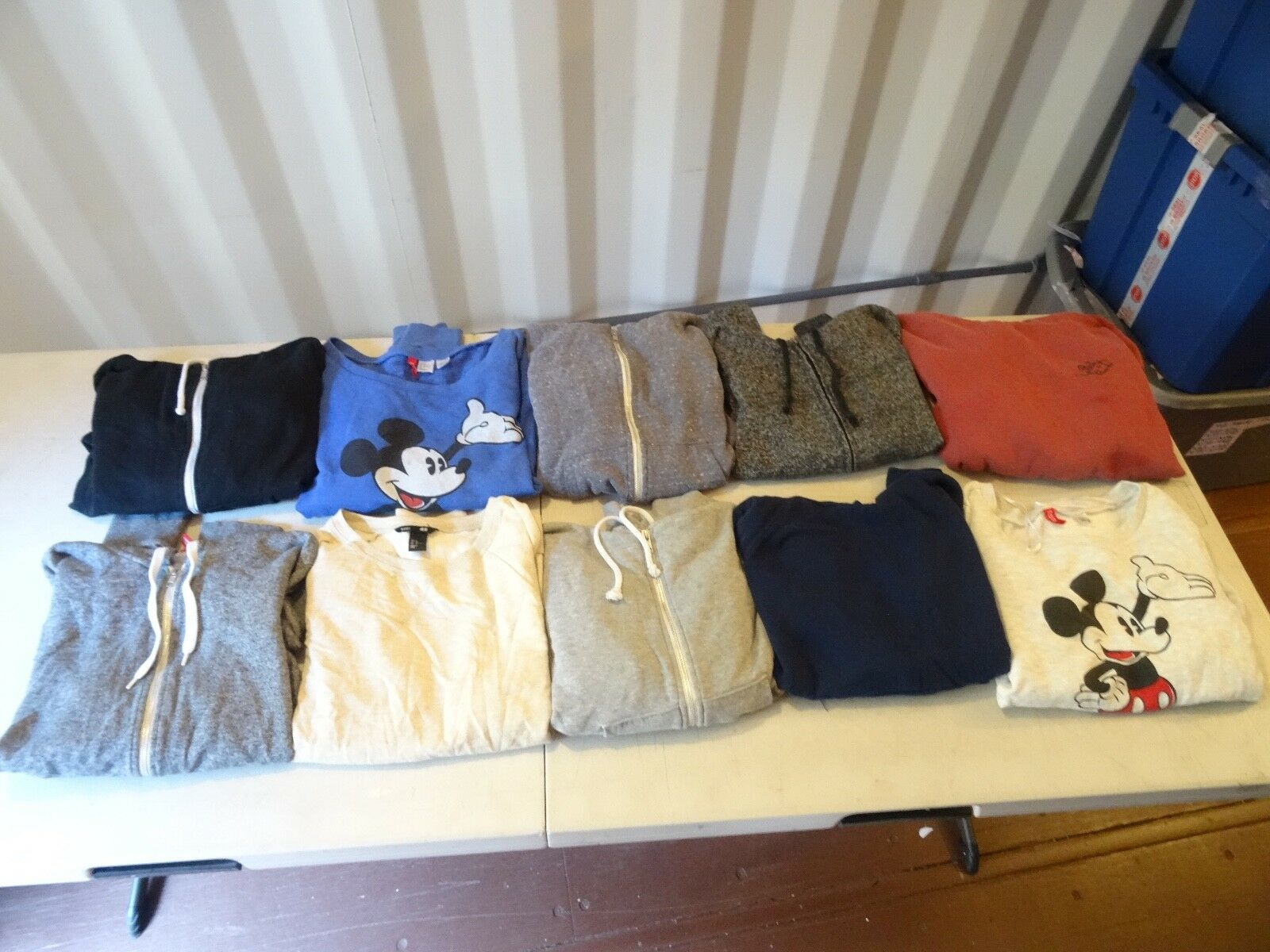 LOT OF 10 H&M AND OBEY HOODIE Hooded Sweatshirt & ZIP UPS SZ M WOMANS VERY NICE