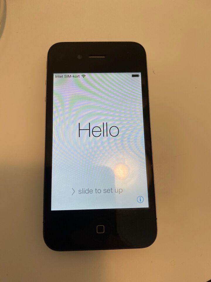 iPhone 4, 8 GB, sort